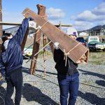 茶園小屋建設−27 焼き板作り 1月30日