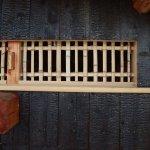 茶園小屋建設−29 建具つくり&焼き板張り*三和土準備 2月18日