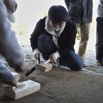 茶園小屋建設−30 三和土最終日 2月25日