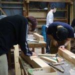 木工基礎実習−2 長ほぞ込栓  5月18日