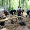 物集女竹林木匠塾  竹吊り屋根をつくる−1    6月20日