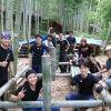 物集女竹林木匠塾  竹吊り屋根をつくる−2    7月11日
