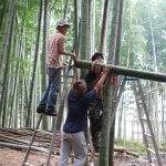 物集女竹林木匠塾  竹吊り屋根をつくる−5   8月22日