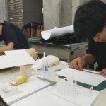 木造住宅の設計作品発表−1 模型作り 9月14日