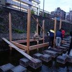 学園祭堀川茶室−2 建て始まりました 10月18日